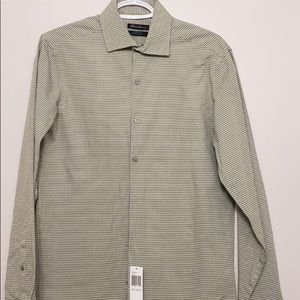 Kenneth Cole Vintage Green Plaid Collared Shirt